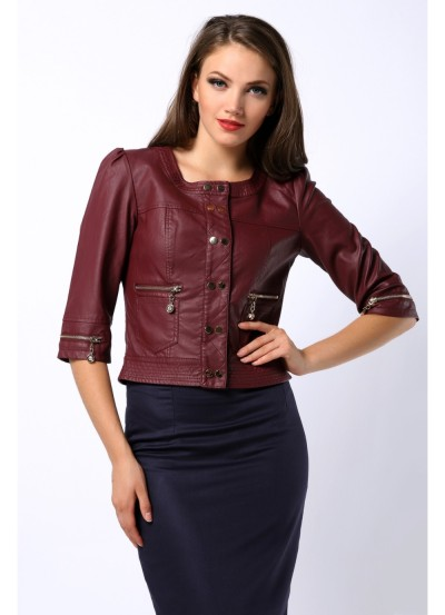 bordeaux lather look jacket