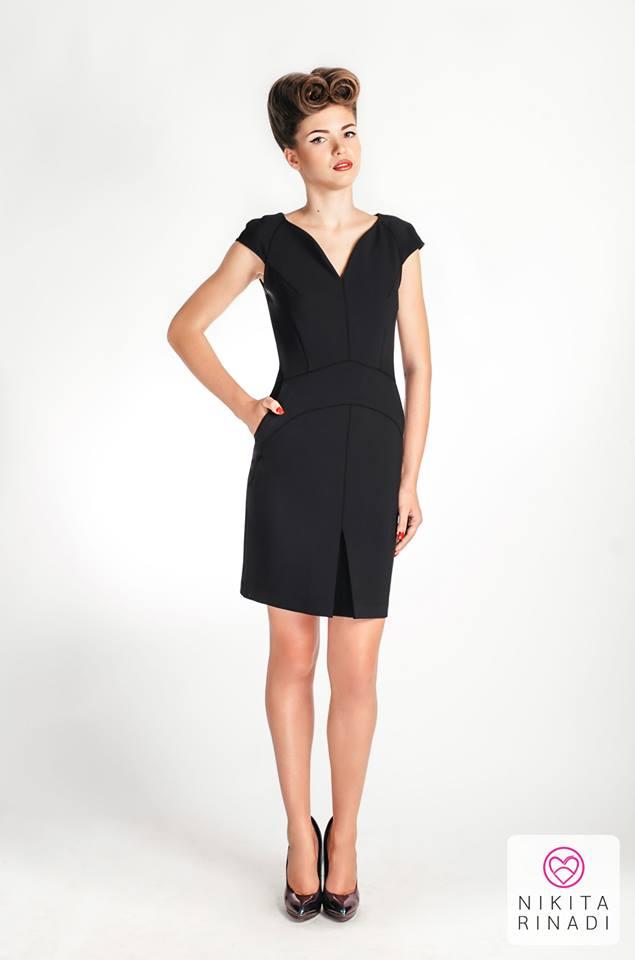 nikita rinadi black dress