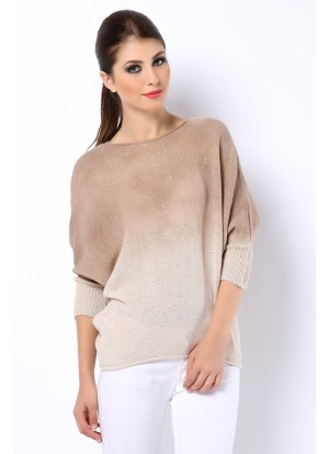 ombre sequin pullover