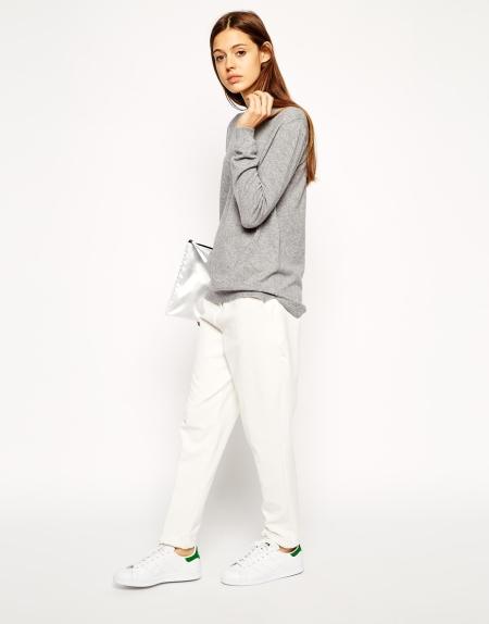 asos grey knitwear