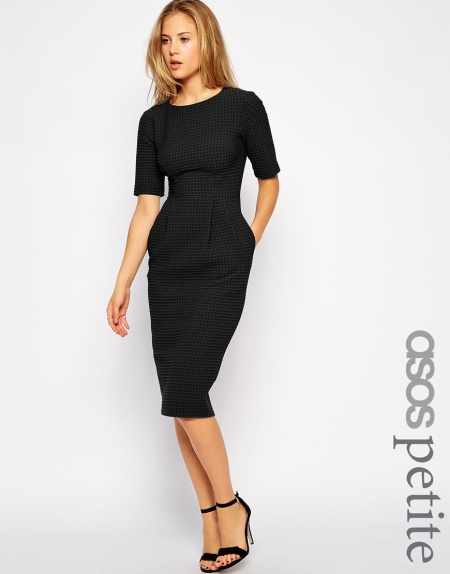 cotton asos dress black