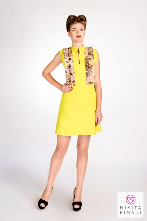 yellow dress nikita rinadi